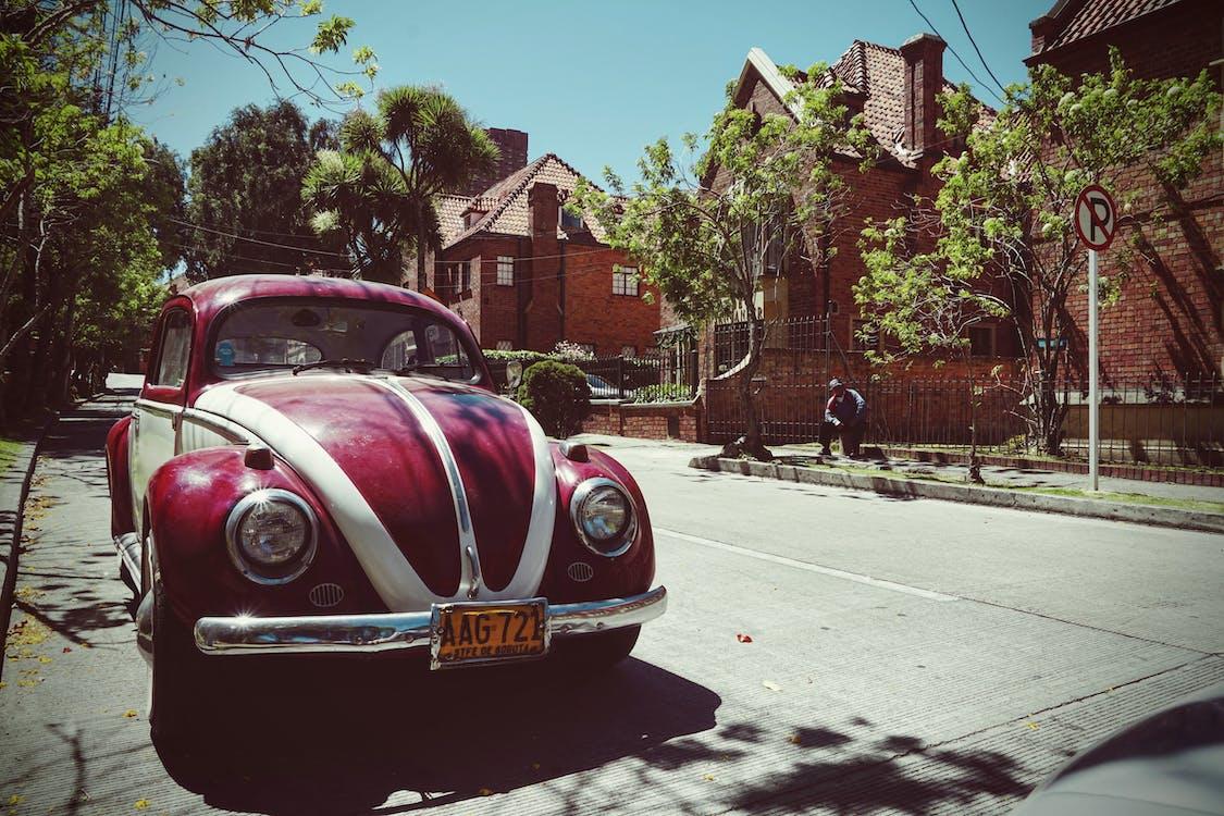 antique, beetle, car