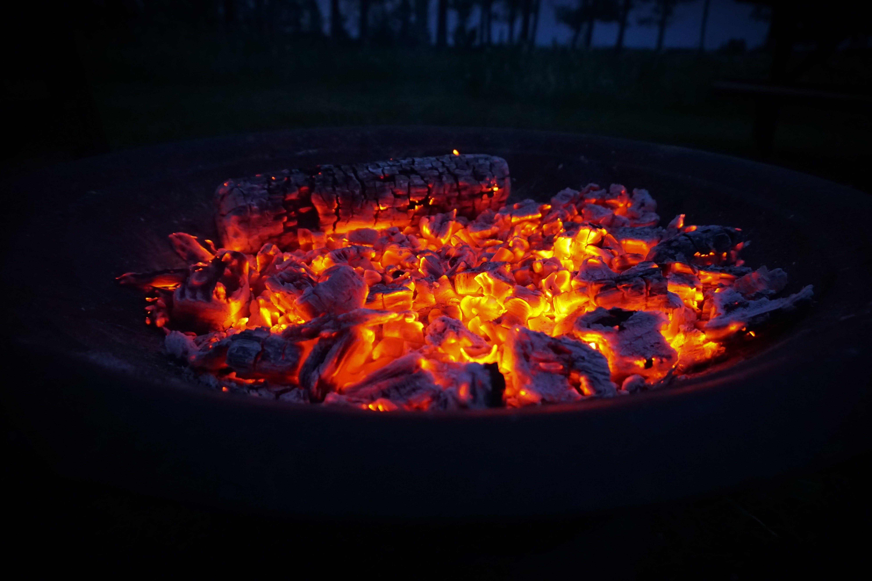Free stock photo of bbq, dark, fire, night