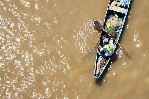 Photos gratuites de aérien, bateau, fleuve, pêcher