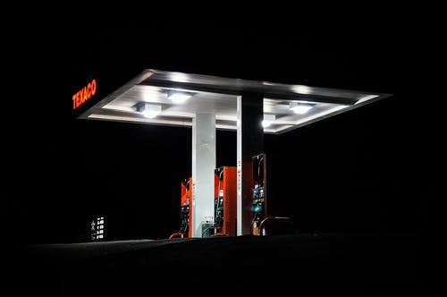 Photo of Gas Station During Evening