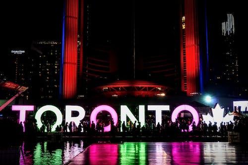 Photos gratuites de centre-ville, enseigne, illuminé, léger