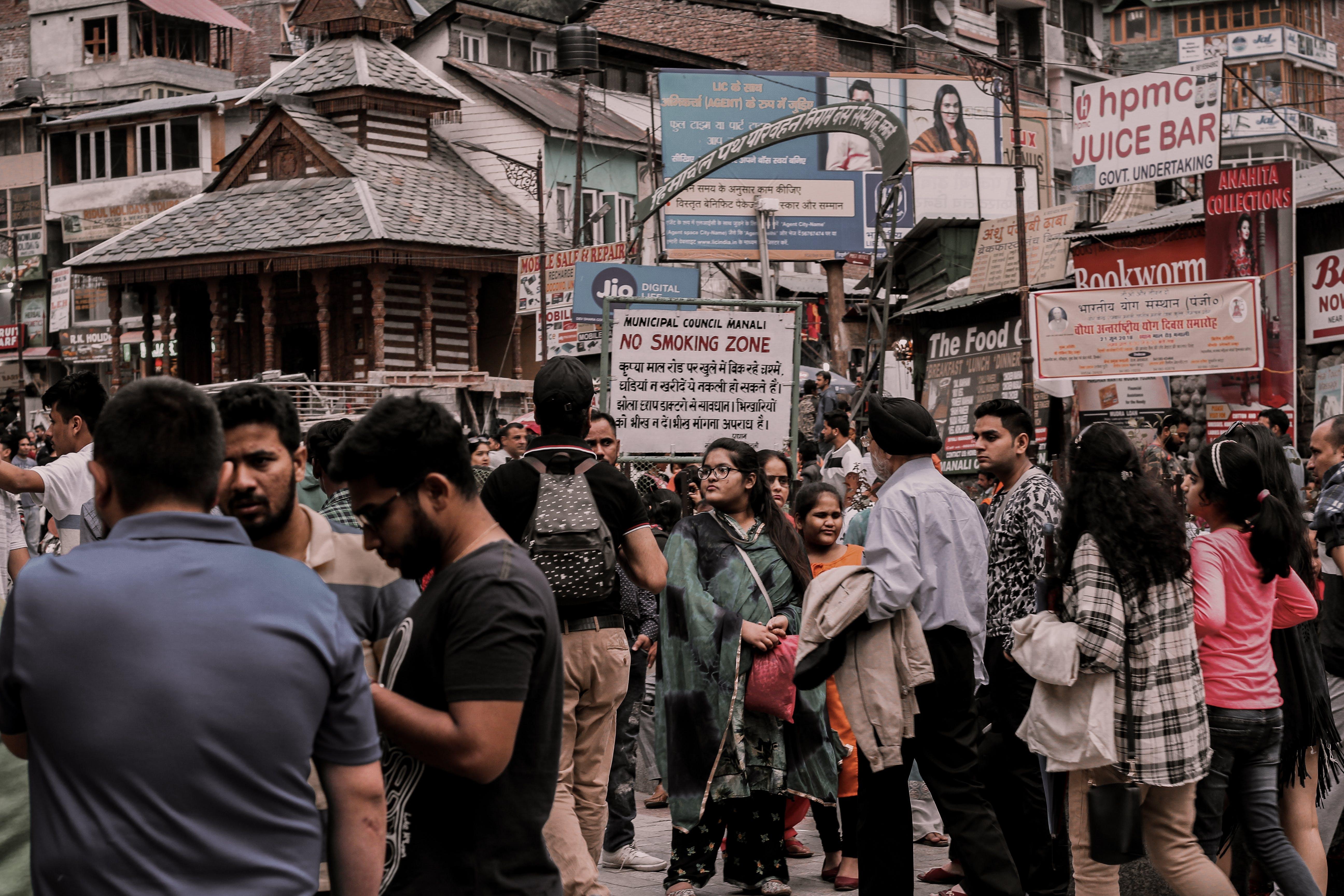 Ingyenes stockfotó ázsiai emberek, India, nyilvános, tömeg témában