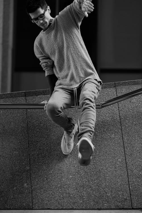 Photos gratuites de homme, individu, mode, noir et blanc