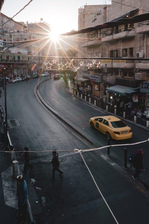 Ilmainen kuvapankkikuva tunnisteilla amman, auringonlasku, auringonsäde, Jordan