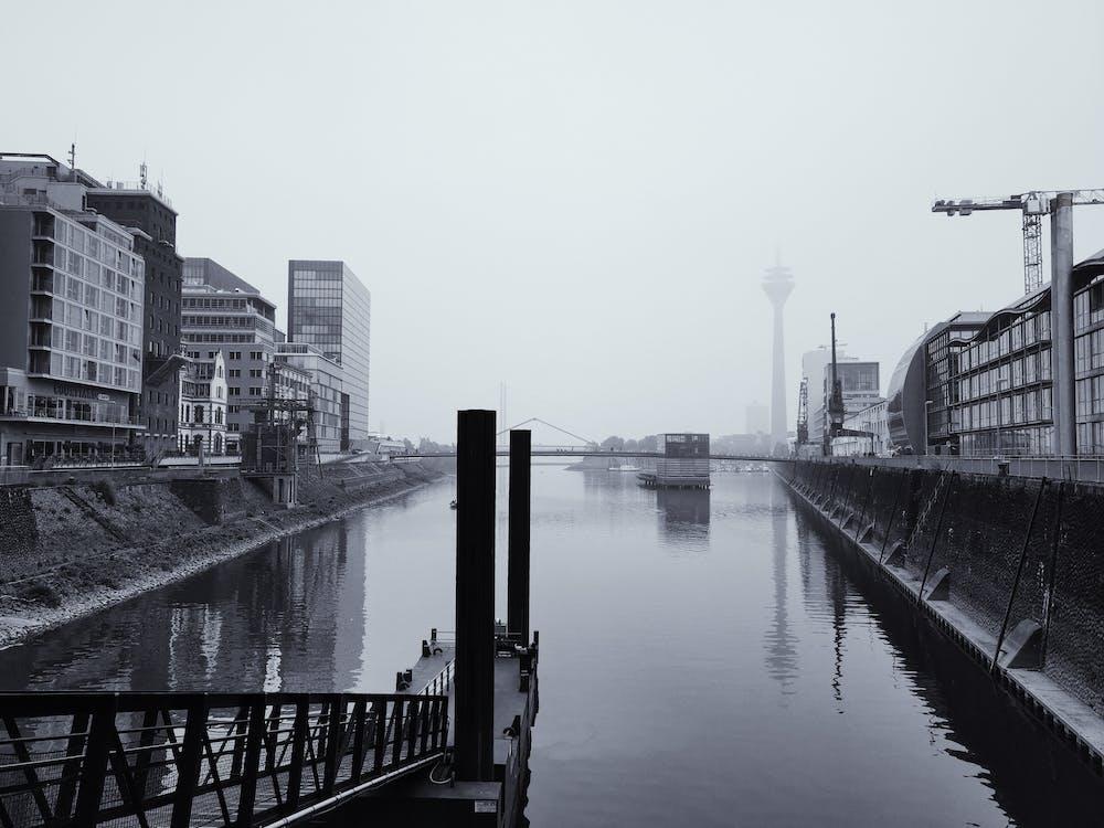 düsseldorf, medienhafen, námorný prístav