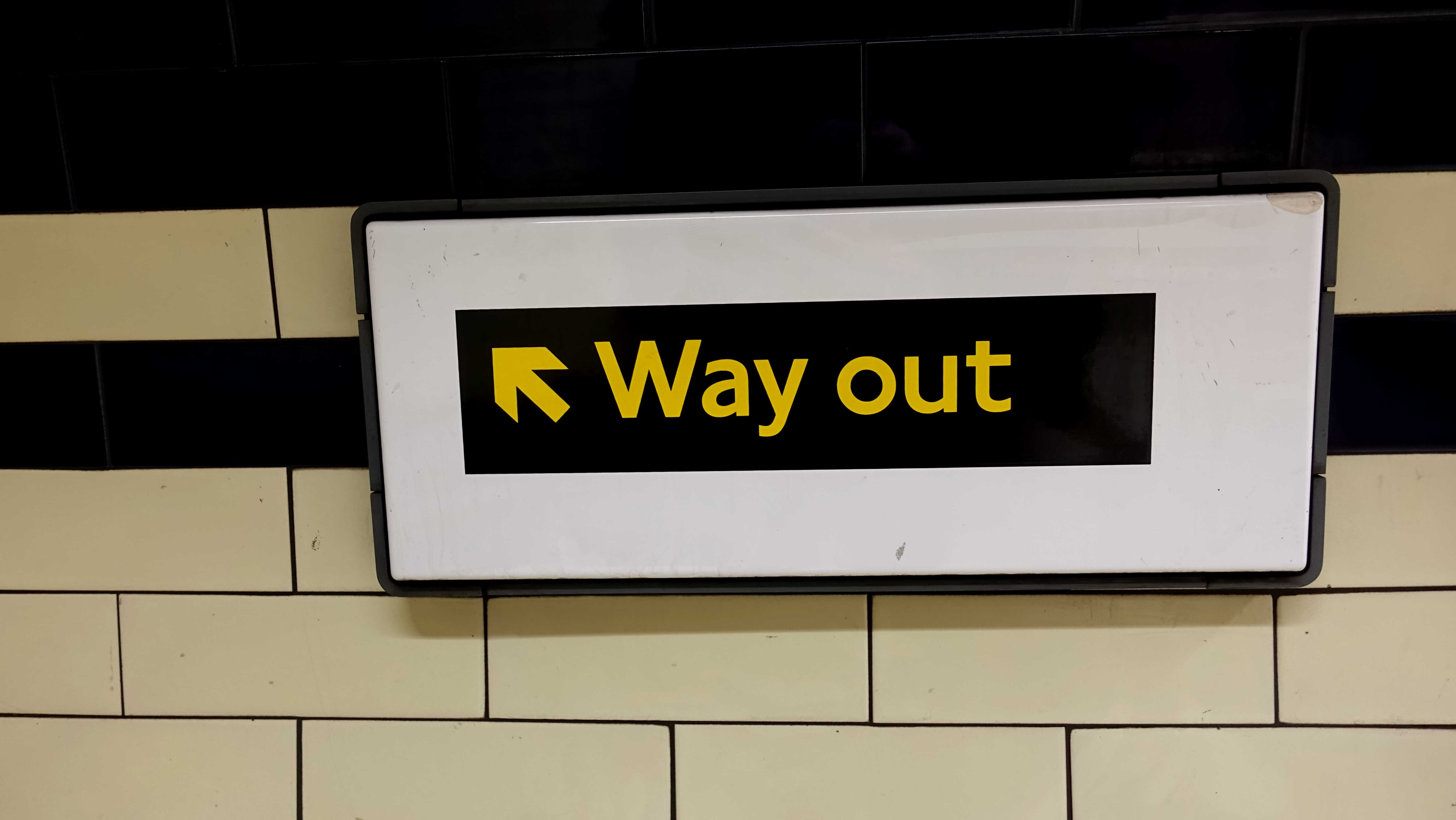 Free stock photo of exit sign, stairs, up, way out