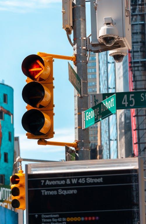 #waterf, 紅綠燈 的 免費圖庫相片