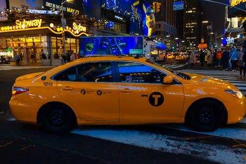 思考, 紐約, 計程車 的 免費圖庫相片