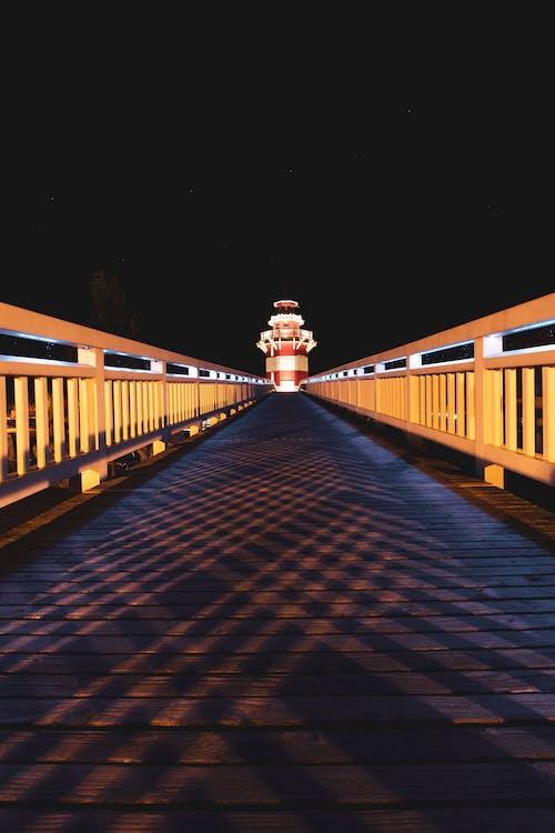 Free stock photo of arch bridge, architect, bridge, illuminated