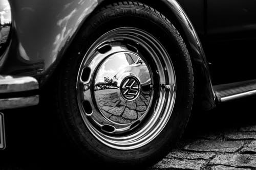 Free stock photo of alloy rim, beetle, berlin, black-and-white