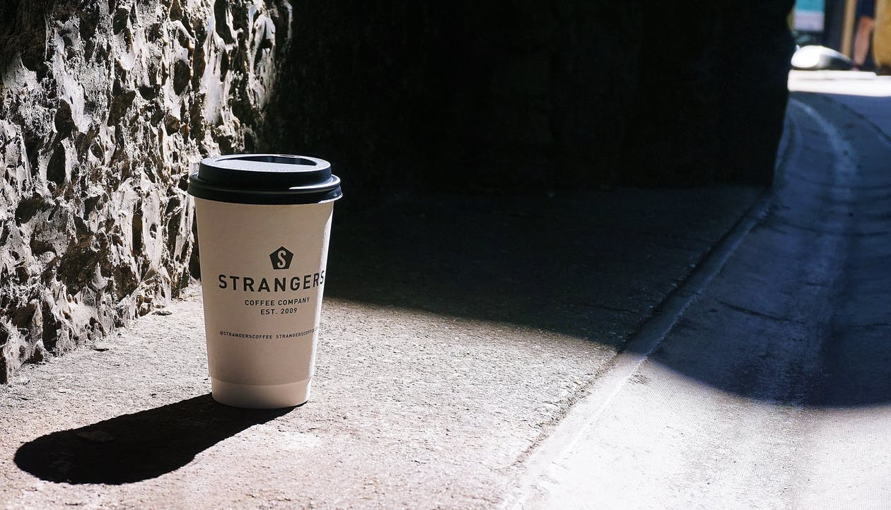 White Plastic Disposable Cup
