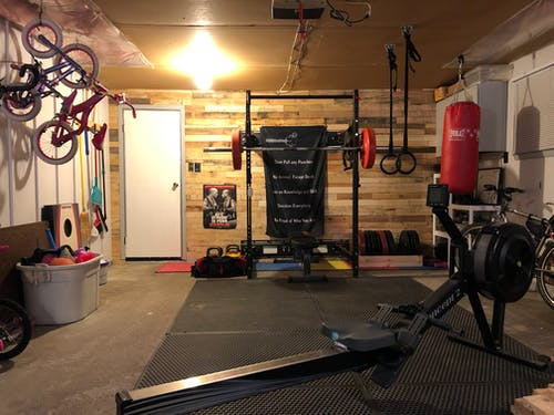 Free stock photo of concept 2 rower, crossfit, crossfit training, garage