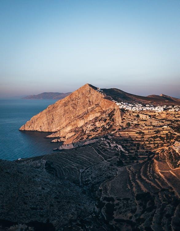 bane, bjerg, cliff edge