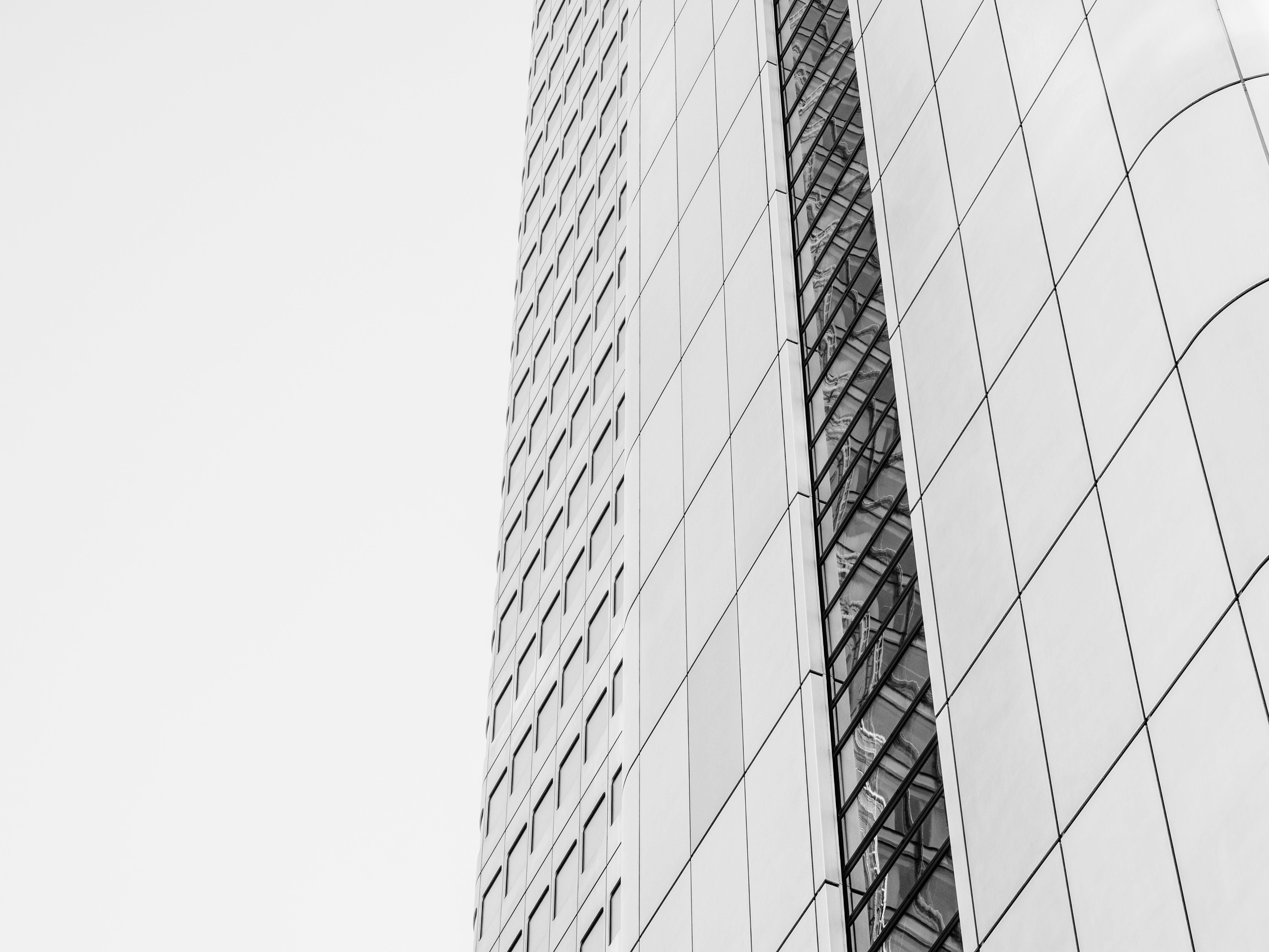 คลังภาพถ่ายฟรี ของ การออกแบบสถาปัตยกรรม, ขาวดำ, มุมมอง, สถาปัตยกรรม