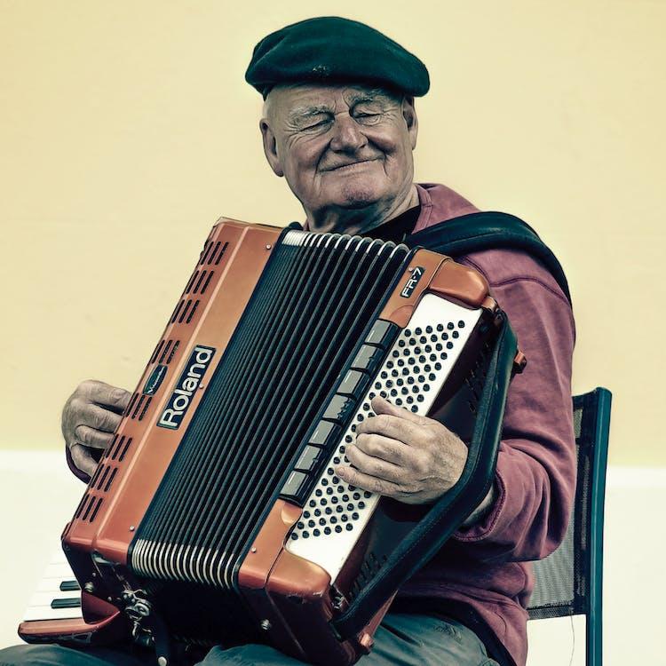 akordeon, instrument muzyczny, mężczyzna