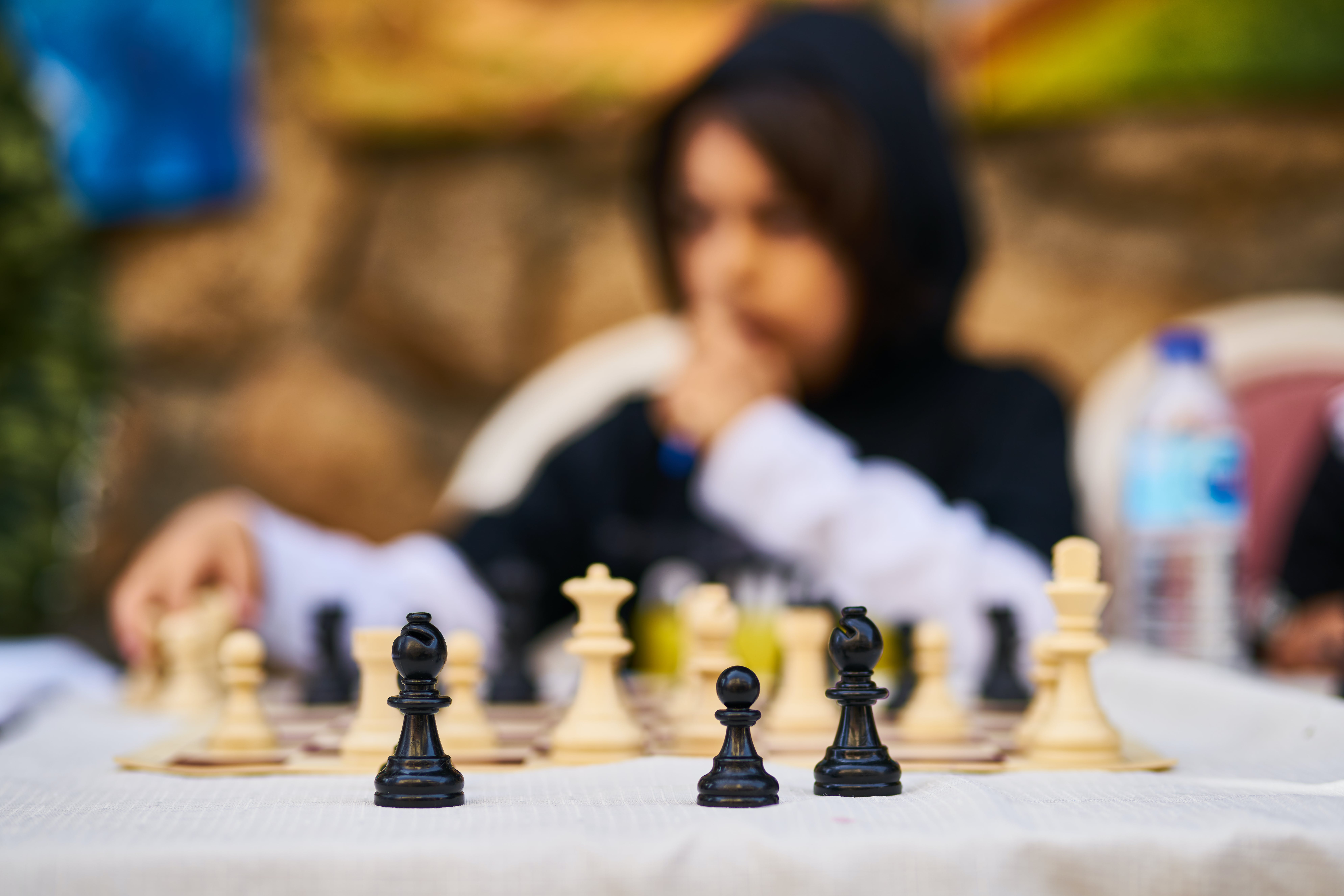 Selective Focus Photography of Chess Board Set