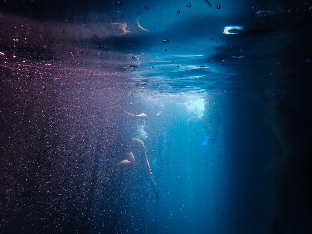 acqua, immersione, inquietante