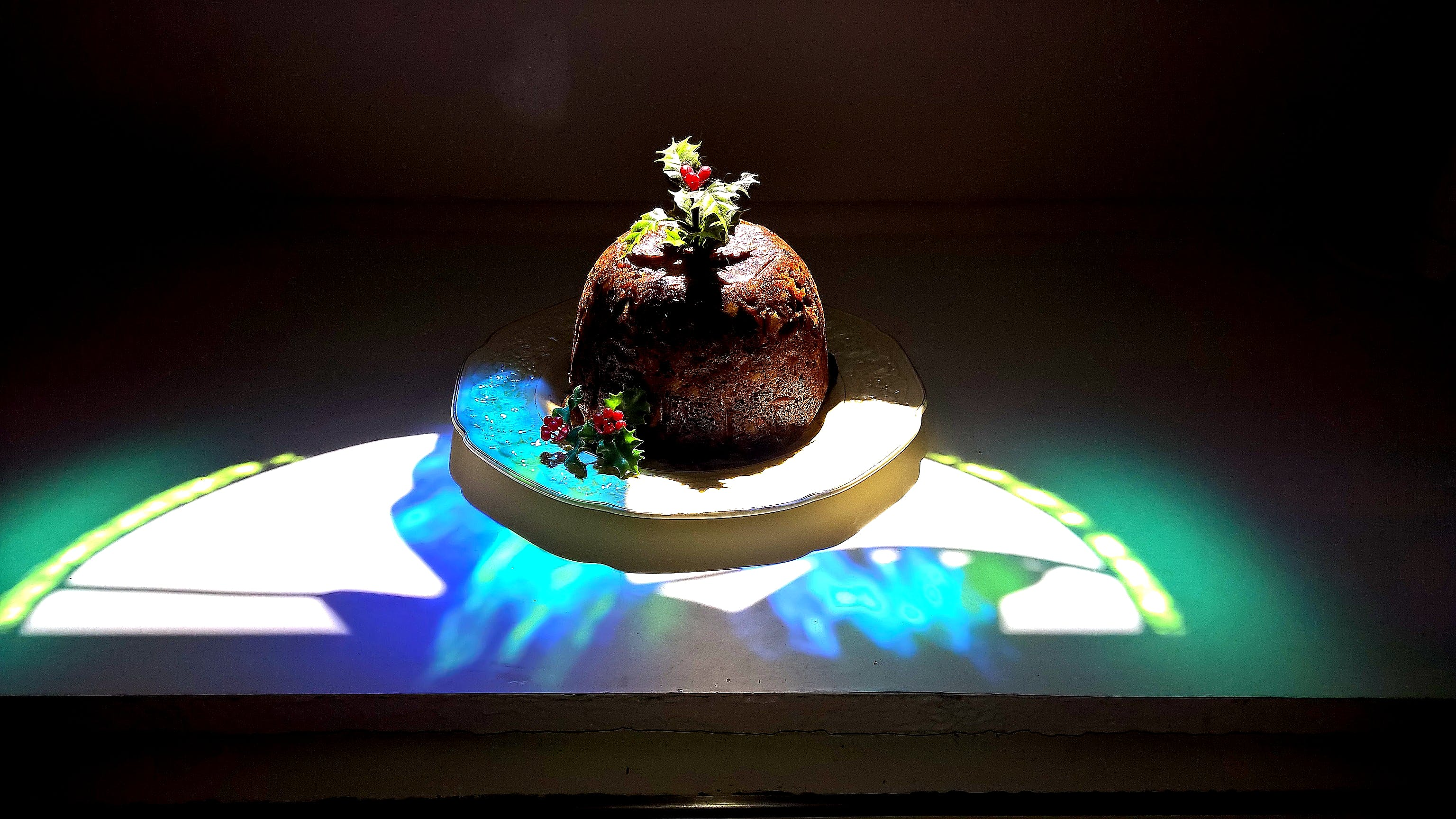Free stock photo of christmas decoration, light, pudding, shadow