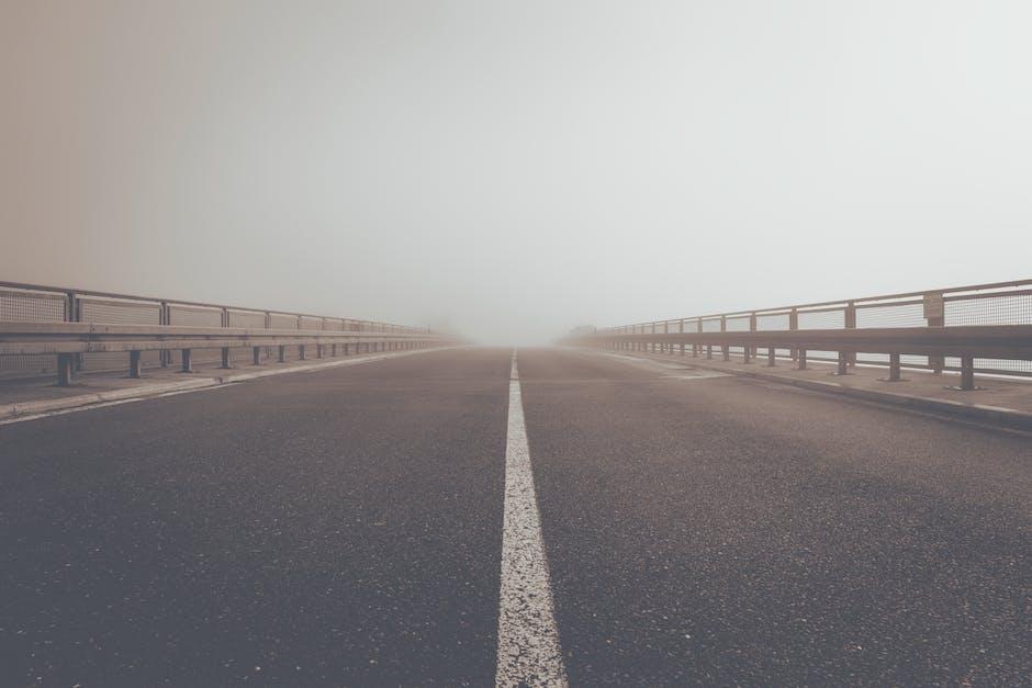 Road street fog path