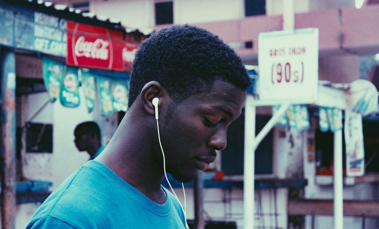 afrikansk pojke, afroamerikaner, ansiktsuttryck