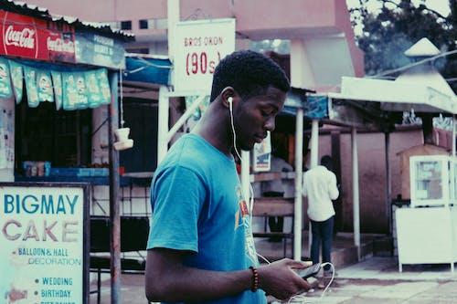 Kostenloses Stock Foto zu 20-25 jahre alter mann, afrikanisch, afrikanischer mann, augen