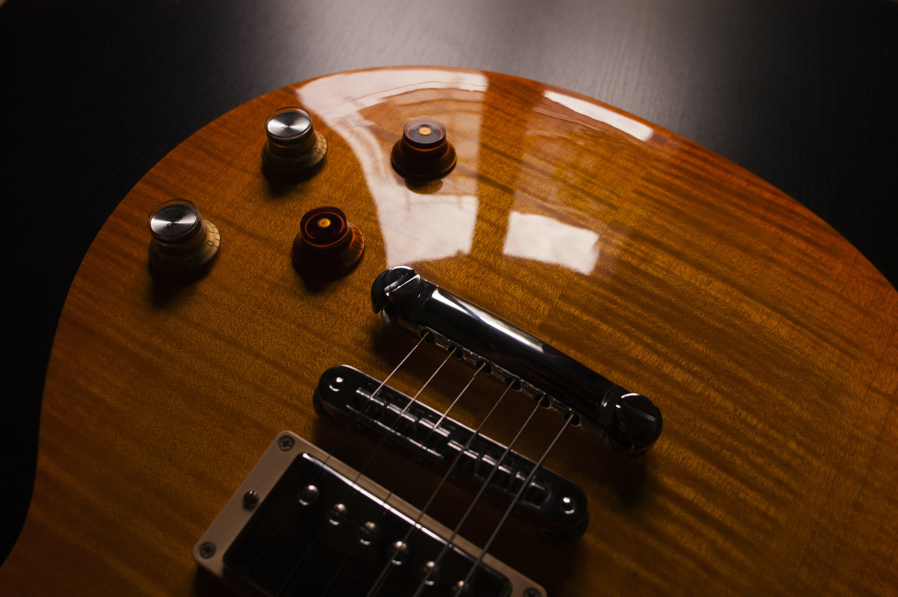 Product Photography of Brown Electric Guitar