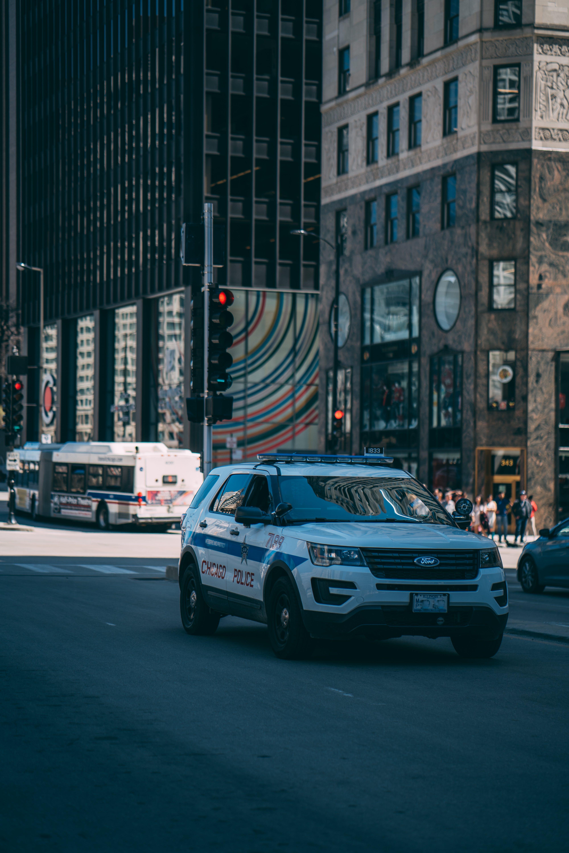 도시, 순경, 차의 무료 스톡 사진