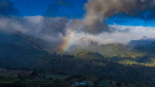 Free stock photo of aerial photo, rainbow