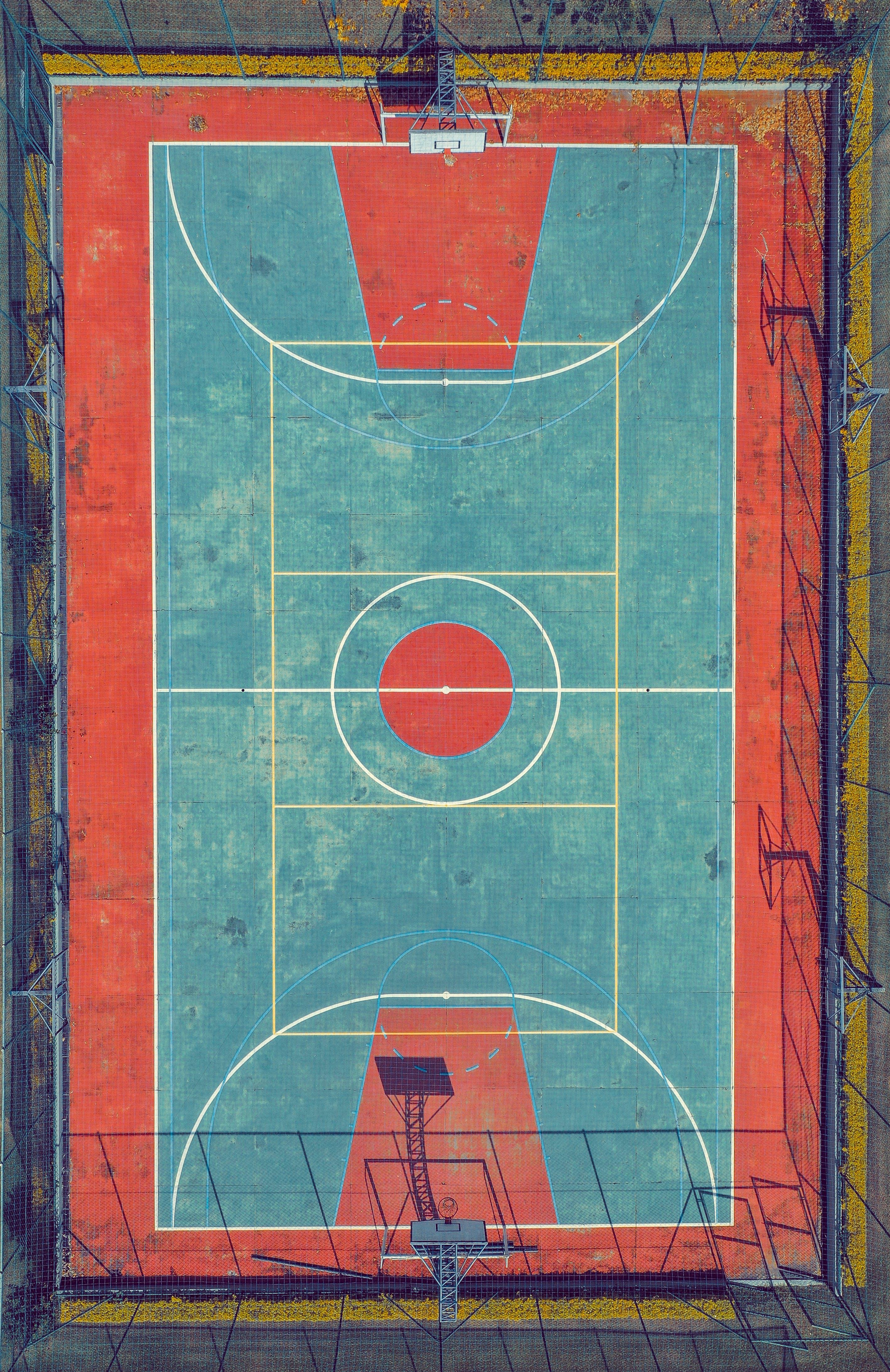 Kostenloses Stock Foto zu aufsicht, basketball platz, drohne blick, drohne erschossen