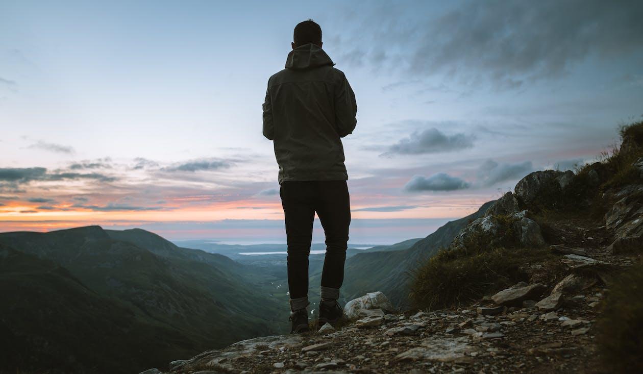 aventure, debout, escalader