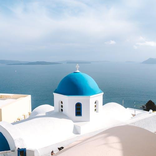 Gratis lagerfoto af Grækenland, hav, Kapel, kirke