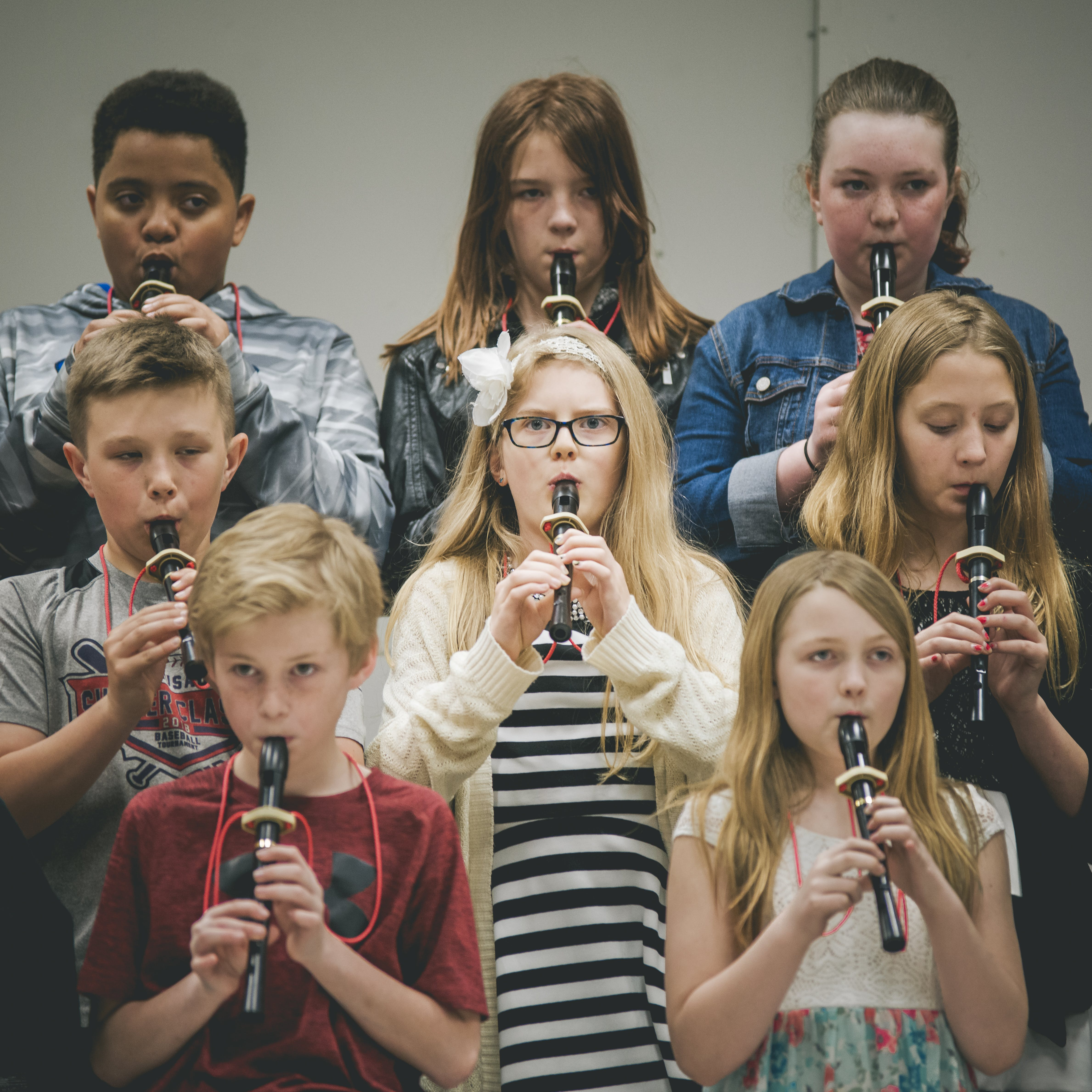 Kostenloses Stock Foto zu fokus, grundschule, kinder, musik