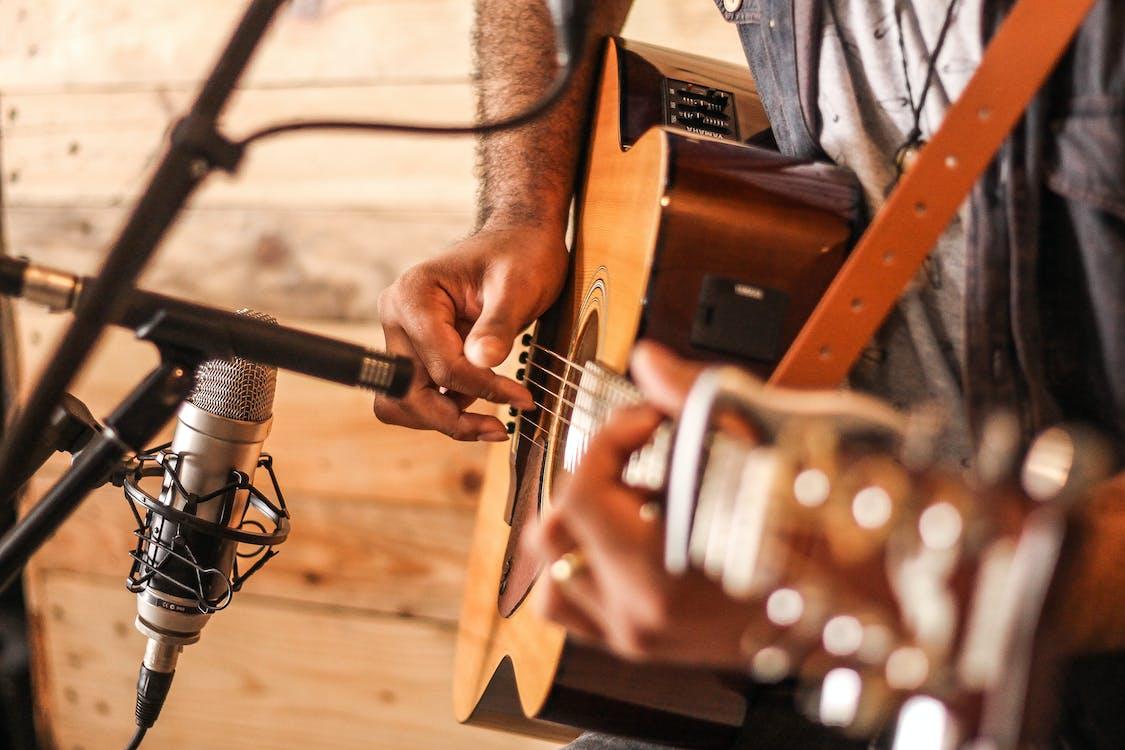 akustisk, akustisk gitarr, antik