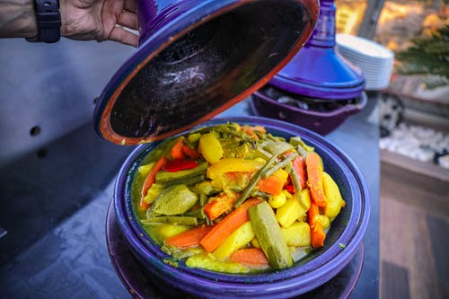 Close-Up Photo of Cooked Vegetables on Pot