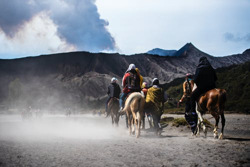 Photo of People Riding on Horses