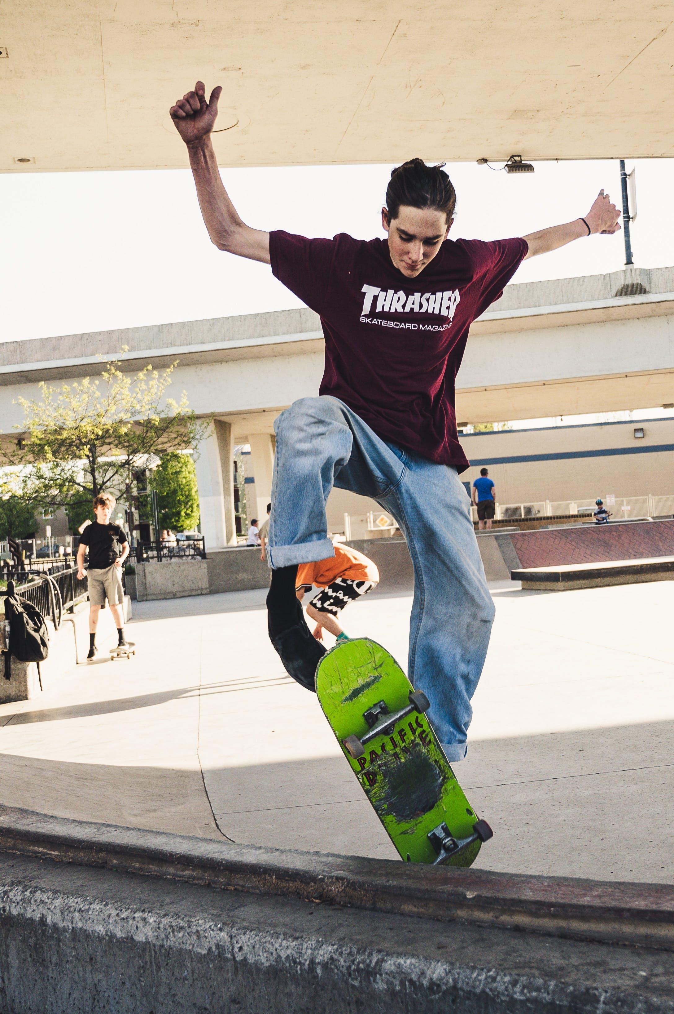 おとこ, スケーター, スケート, スケートパークの無料の写真素材