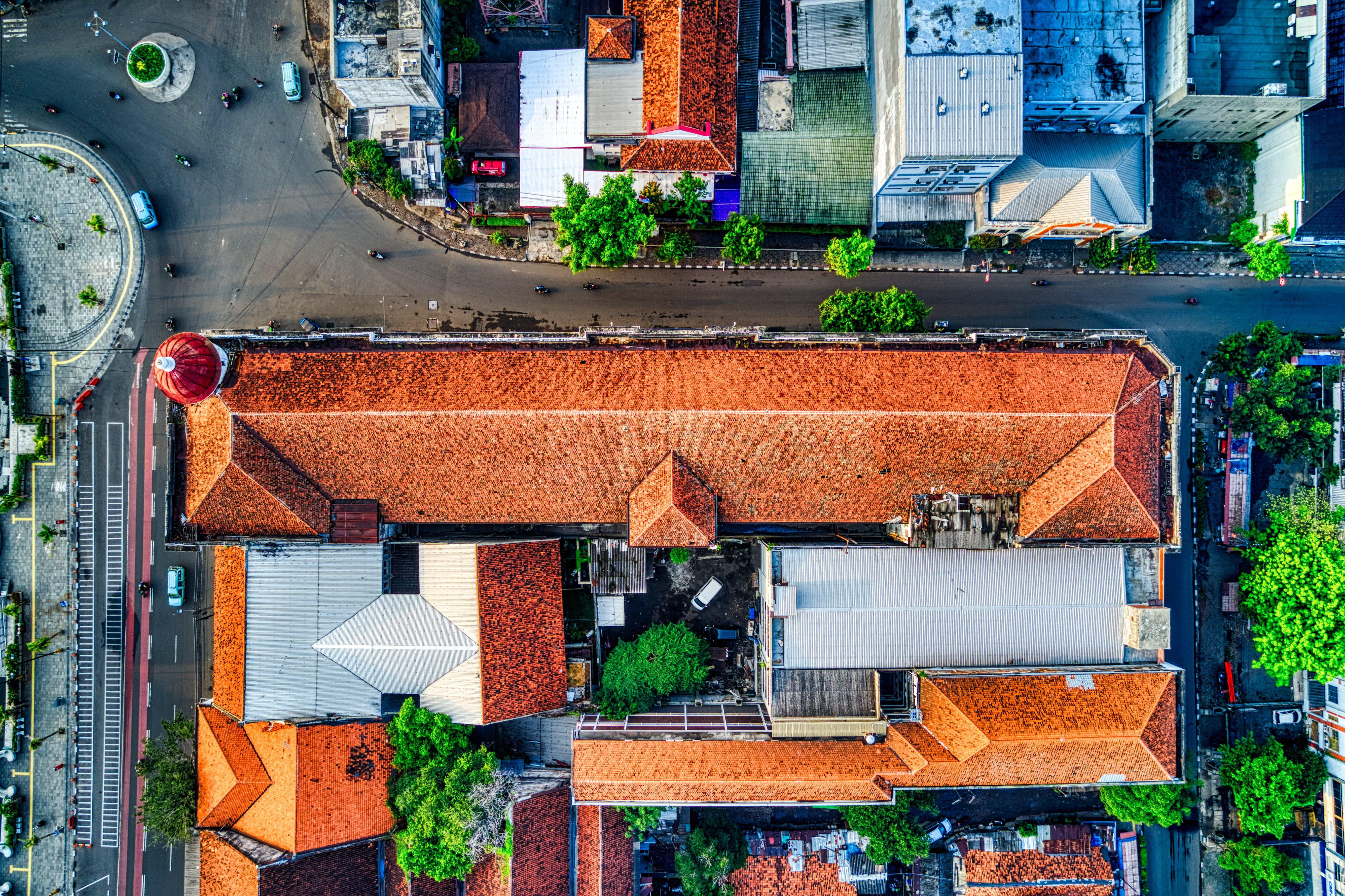 Foto profissional grátis de aéreo, ao ar livre, aparência, arquitetura