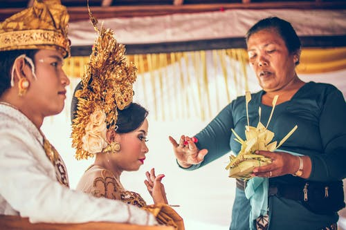 wedding of asian couple