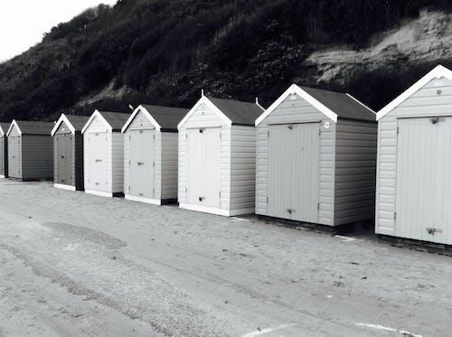 Fotos de stock gratuitas de cabañas de playa, degradado, playa, verano
