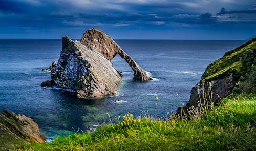 경치가 좋은, 락, 바다, 바다 경치의 무료 스톡 사진