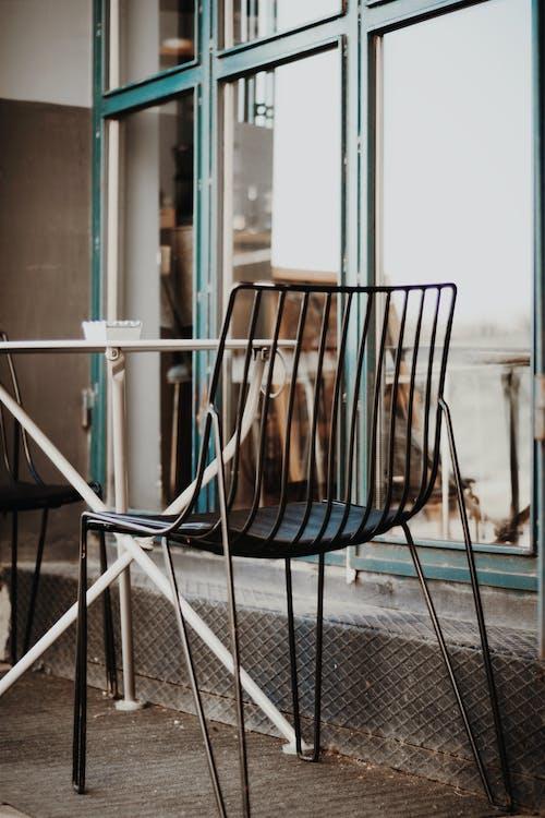 Foto d'estoc gratuïta de cadira, metall, seient