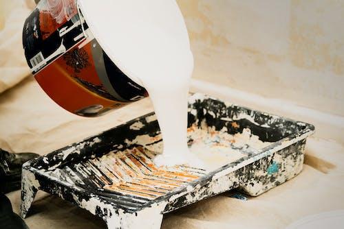 Kostnadsfri bild av behållare, måla, målarburk, vätska