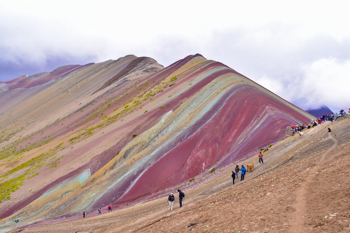 Free stock photo of mountains, peru, rainbow