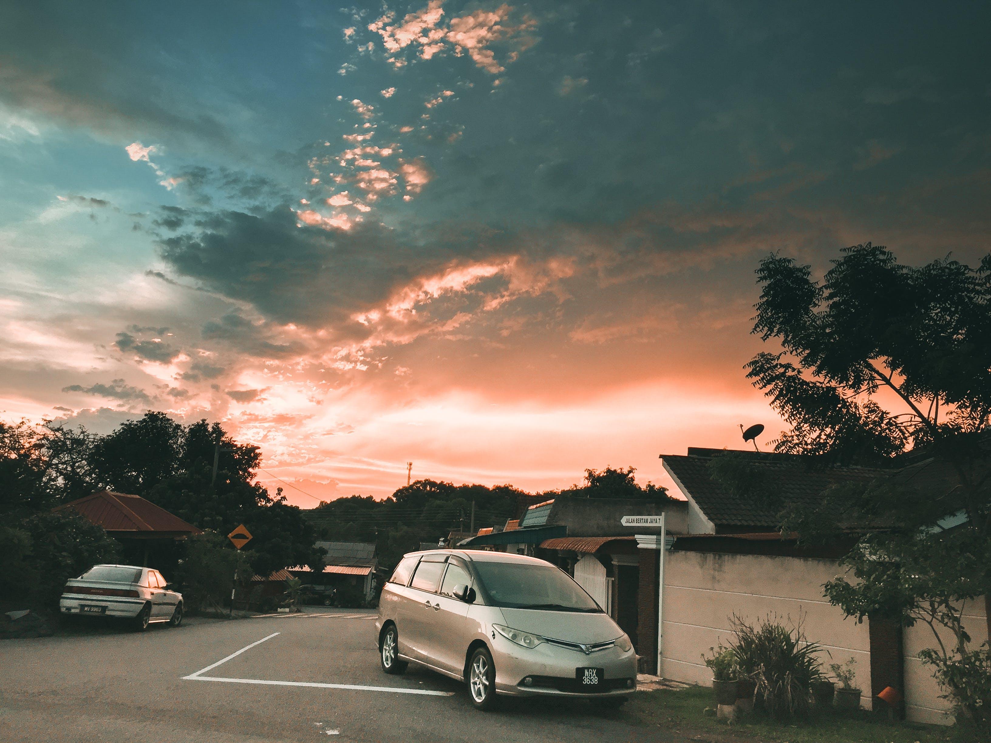 Δωρεάν στοκ φωτογραφιών με orang ουρανού, δύση του ηλίου, θέα, όμορφο τοπίο