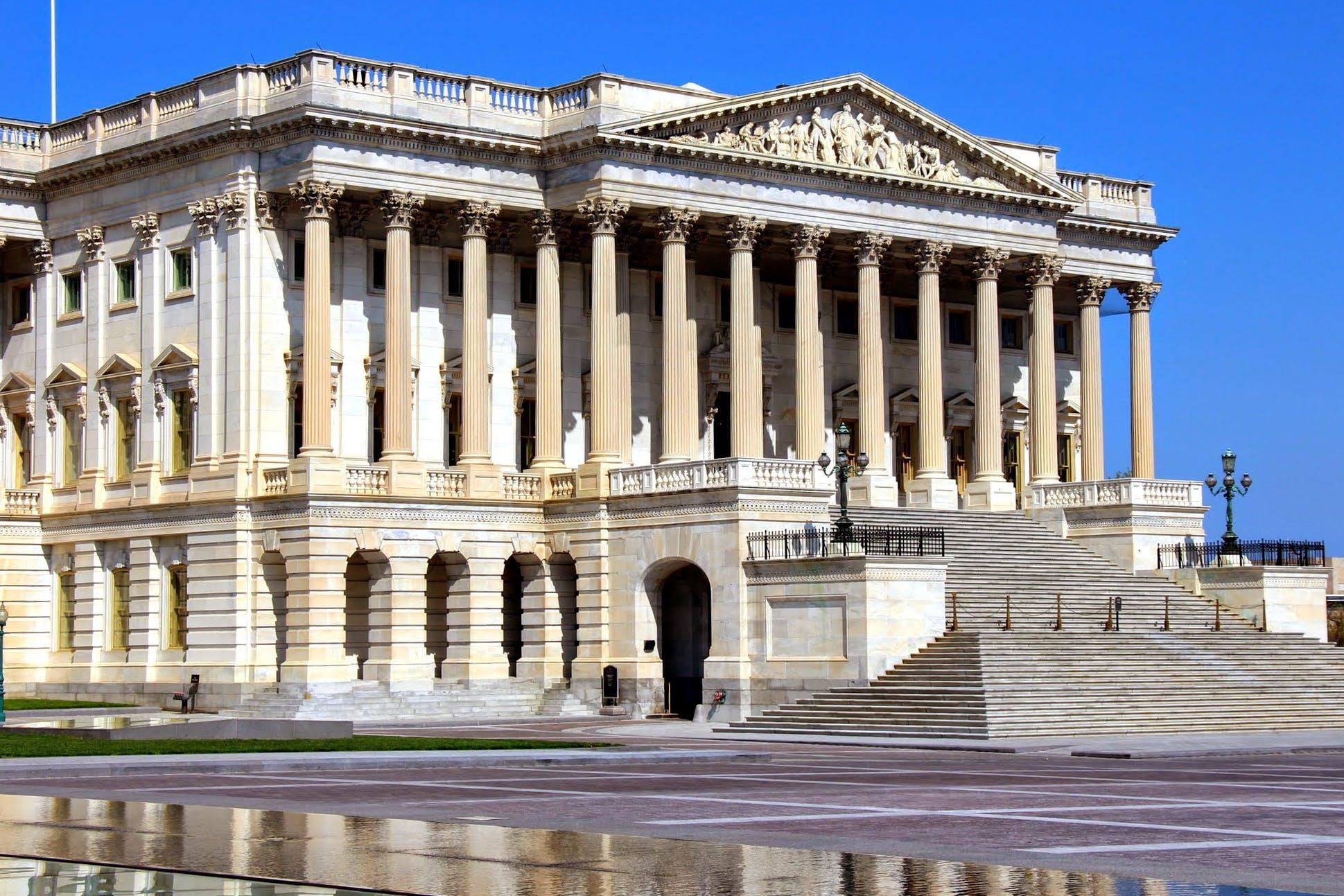 Free stock photo of Capitol, columns, pillars, washington dc