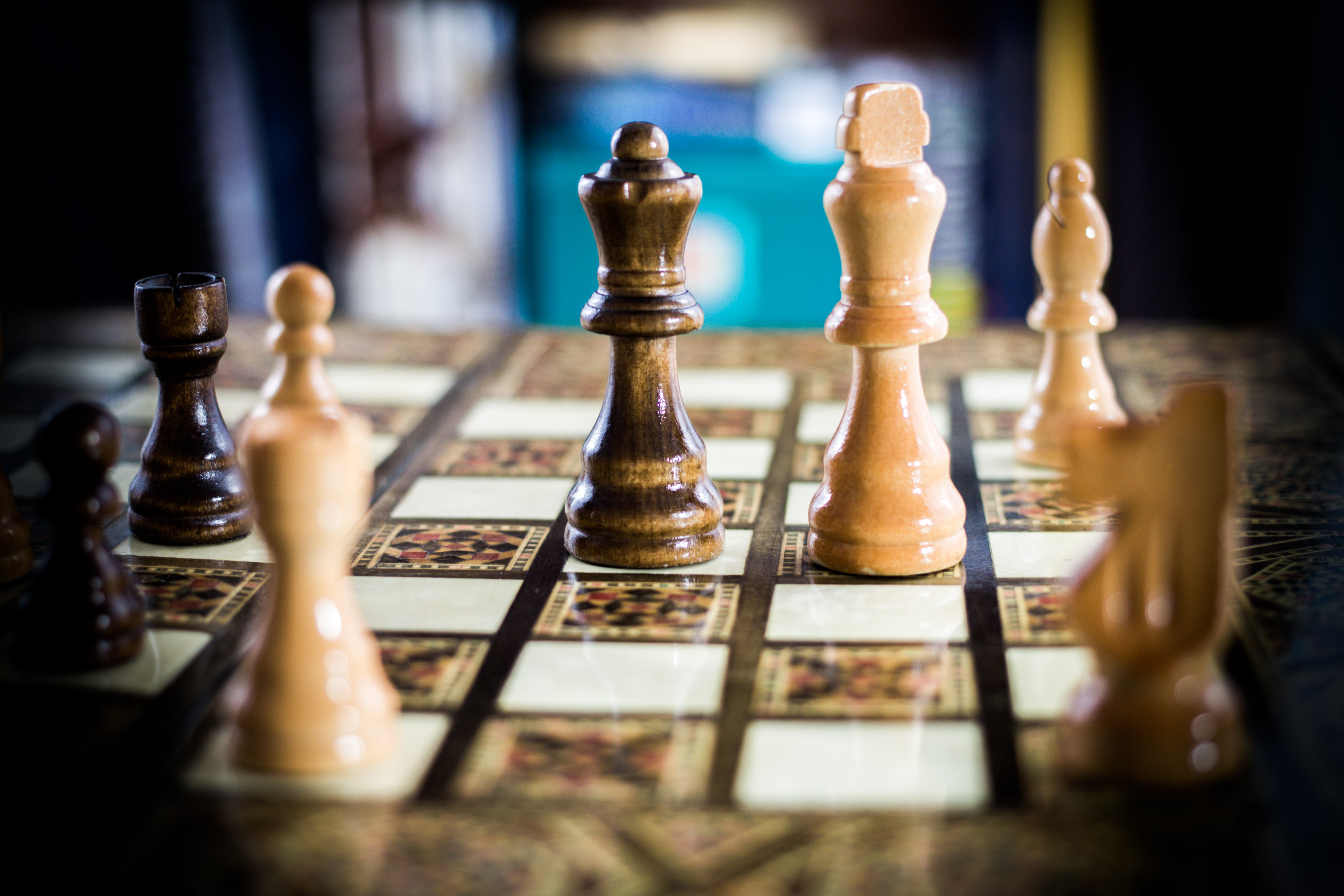 Free stock photo of check, chess, chess board, king and queen
