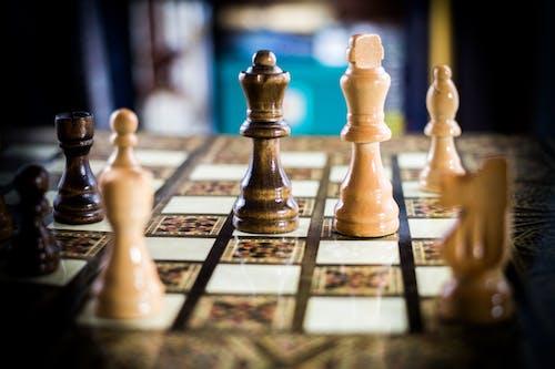 Immagine gratuita di assegno, re e regina, scacchi