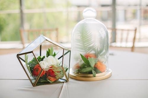 Photos gratuites de à l'intérieur, centrales, composition florale, conteneur