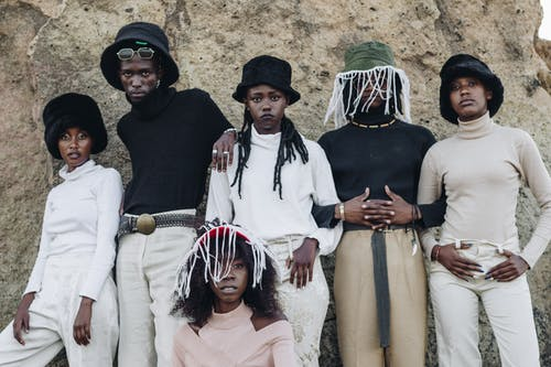 black people posingfor photo