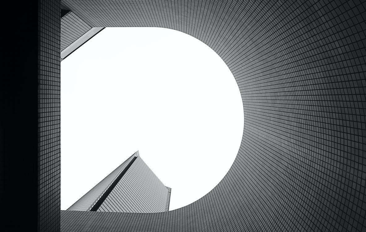 Schwarzweiss Foto Des Gebäudes